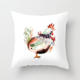 Big Rooster Throw Pillow