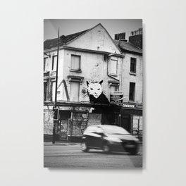 Banksy's rat Metal Print