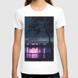 Japanese Nightscape 'Shinobazu Pond at Night' by Hasui Kawase T-shirt