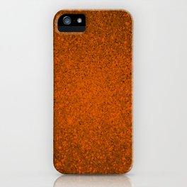 Azotic Orange Sparkling Jewels Pattern iPhone Case