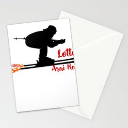 Ski speeding at Lotte Arai Resort Stationery Cards