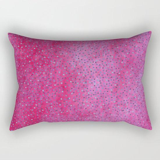 Pink & Blue Polka Dots #society6 #buyart #decor Rectangular Pillow
