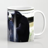 planet of the apes Mugs featuring Social Apes by 100 Watt Photography