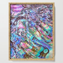 Shimmery Rainbow Abalone Mother of Pearl Serving Tray