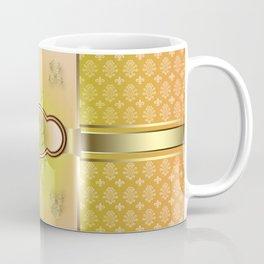 Monogrammed Flemish A Gold Coffee Mug