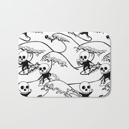 surferSkeleton Bath Mat