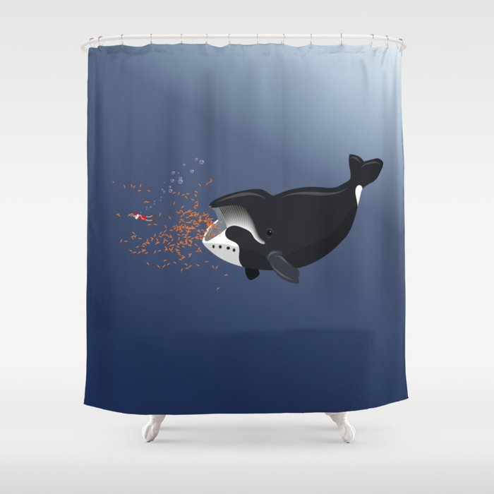 Pinocchio And The Bowhead Whale Shower Curtain