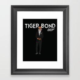 Tiger Bond Framed Art Print