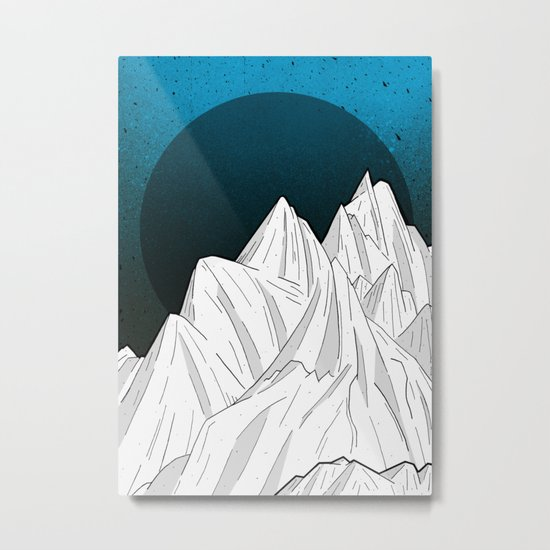 The deep blue moon Metal Print