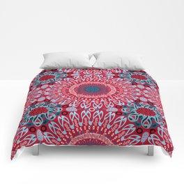 Calligraphic Boho (Red) Comforters