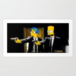 Pulp Simpson Art Print