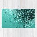 Sparkling Turquoise Lady Glitter #1 #shiny #decor #art #society6 by anitabellajantz
