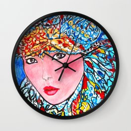 LUNA #society6 #decor #buyart My artwork is featured in MagCloud, Pink Panther Magazine, issue 25 Wall Clock