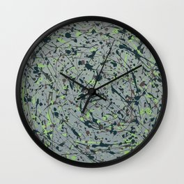 Modern Splatter Paint Art Wall Clock