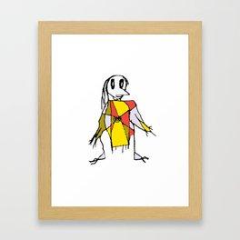 Scarecrows Pattern Design Framed Art Print