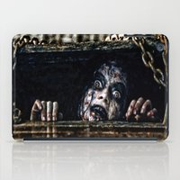evil dead iPad Cases featuring Stay Out of the Basement: Evil Dead by Joe Misrasi