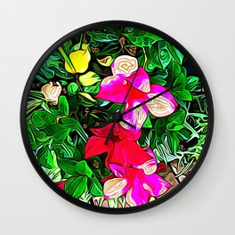 Flower Codes of Revelation Wall Clock
