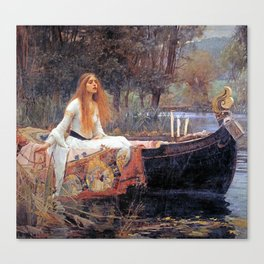 THE LADY OF SHALLOT - WATERHOUSE Canvas Print