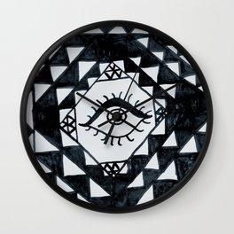 Eye geometric pattern Wall Clock