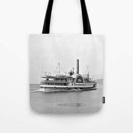 Ticonderoga Side Wheeler Steamboat Tote Bag