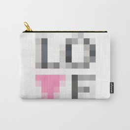Exaggerated Pixelated LOVE Carry-All Pouch