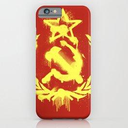 Graffiti Hammer & Sickle iPhone Case