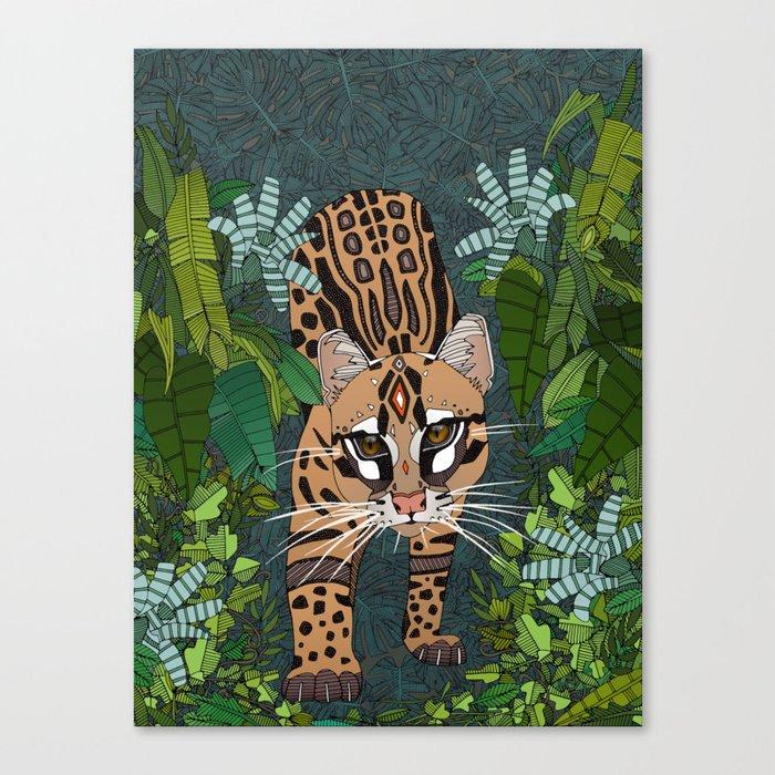 ocelot jungle nightshade Leinwanddruck