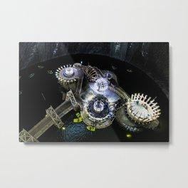 Aerial View of Turda Salt Mine Metal Print