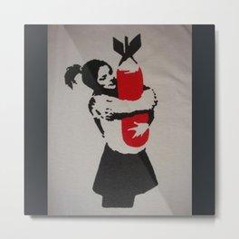 Bansky Bomb Hugger Metal Print