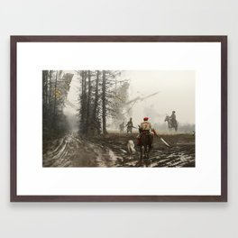 1863 - they feed and defend Framed Art Print