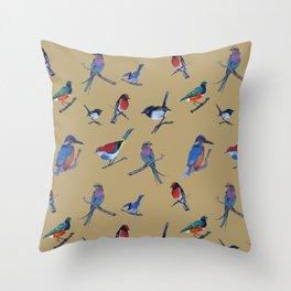 Daisy's birds Throw Pillow