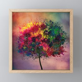 Love in Fall Framed Mini Art Print