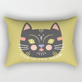 Live in the Meow Rectangular Pillow