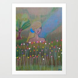 Nature and the Lady Art Print