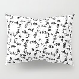 Ink Stroke: Black Floral II Pillow Sham
