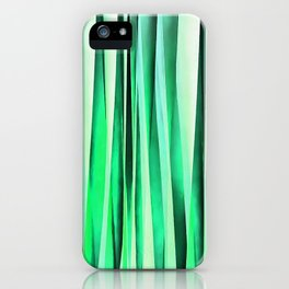 Turquoise Serenity Stripy Pattern iPhone Case