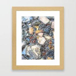 River Rocks #3 Framed Art Print