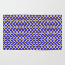 Blue Gold Scales Rug