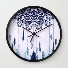 BOHO DREAMS MANDALA Wall Clock