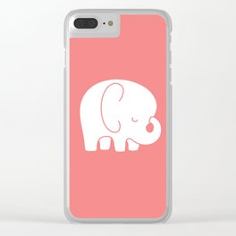 Mod Baby Elephant Coral Clear iPhone Case