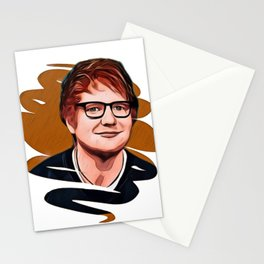 Sheeran Glasses Sketch Lovely Dude Bar Bro Stationery Cards