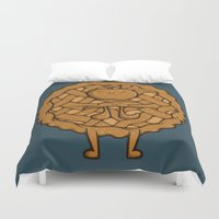 pi Duvet Covers featuring Apple Pi by Perdita