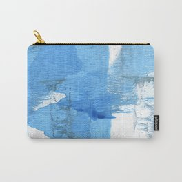 Corn flower blue hand-drawn wash drawing paper Carry-All Pouch