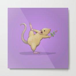 Yoga Rat, Day 5 Metal Print