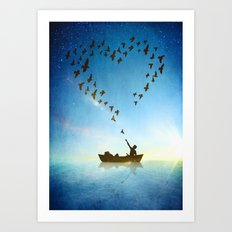 Love is in the Air Art Print