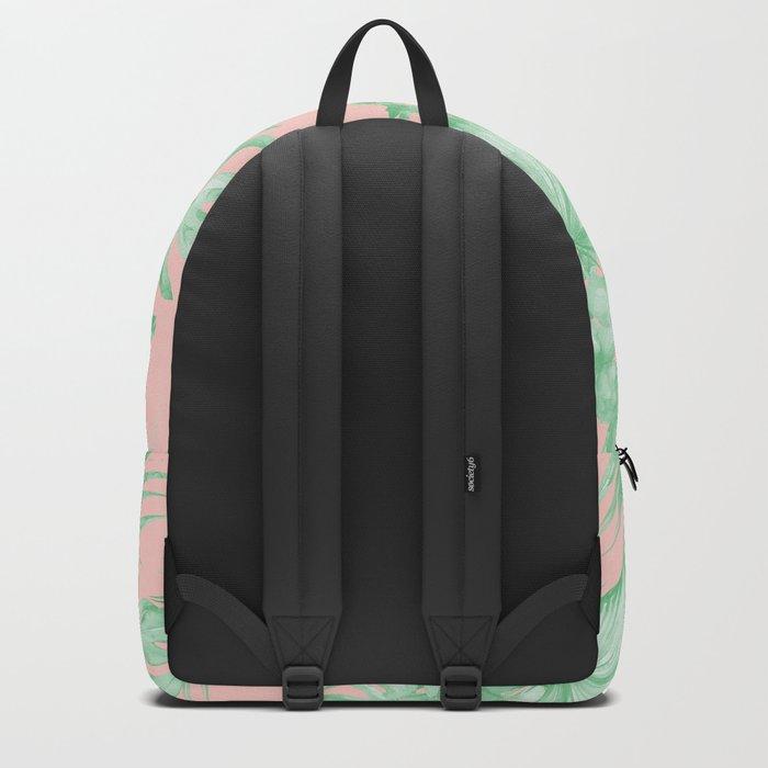 Dreaming of Hawaii Seashell Pink + Light Green Backpack