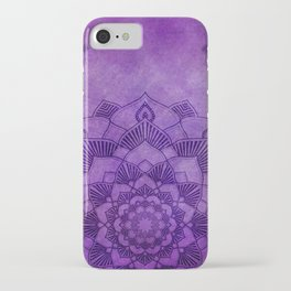Deep Purple Lotus Mandala iPhone Case