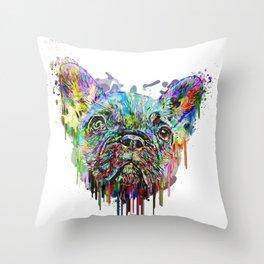 French Bulldog Acrylic Throw Pillow