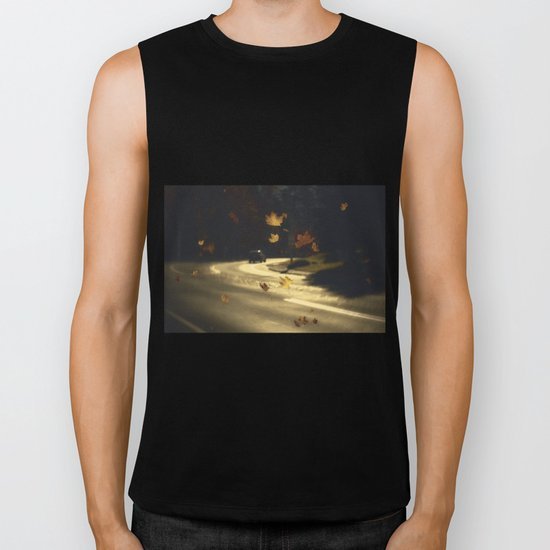 Autumn shower! Take me with you away from a dreadful winter! Biker Tank