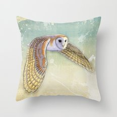 Barn Owl Labyrinth Throw Pillow